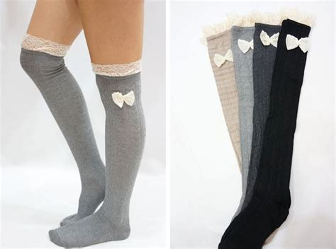 Bow Knee High Socks image from http d3u67r7pp2lrq5 cloudfront net product