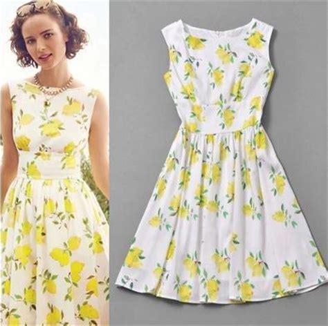 New Arrival Furla Metropolis Yellow Lemon new arrival european and american style 50s vintage dress yellow lemon dress cotton print dress
