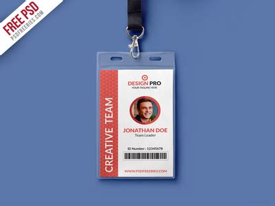 free publisher id card template free psd office identity card template psd by psd