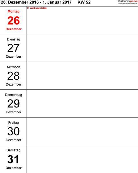 Word Vorlage Register 1 10 wochenkalender 2017 als word vorlagen zum ausdrucken
