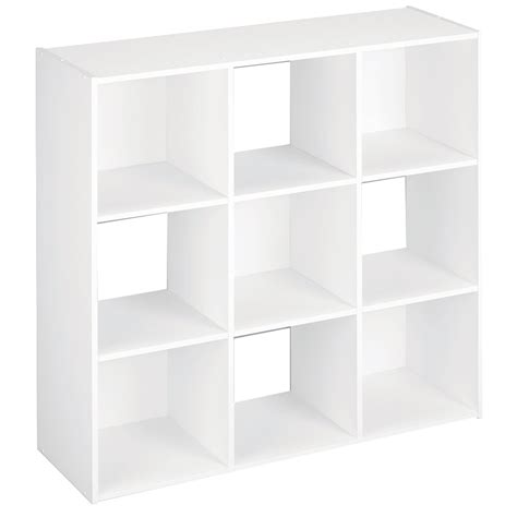 Cube Shelf White shop closetmaid 9 white laminate storage cubes at lowes