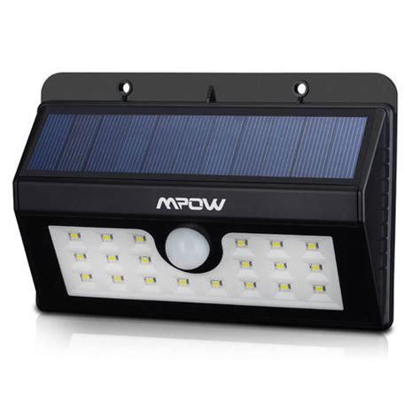 mpow bright solar powered 20 led bulbs motion sensor