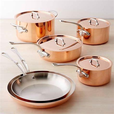 copper cookware set mauviel copper triply 10 cookware set williams sonoma
