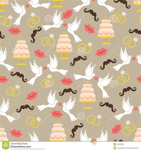 cake background pattern vector vintage wedding seamless pattern set lips mustache