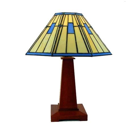 Prairie Style Home Plans Table Lamp Mission Arts And Crafts Stained Glass