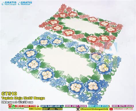 Box Souvenir Taplak taplak meja motif bunga packaging eksklusif
