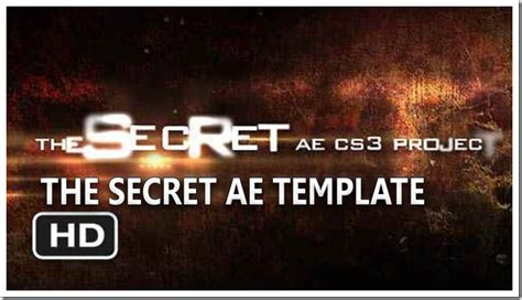 Free Adobe After Effects Template The Secret Project Hd Cs3 Videohive Ae Project File Way After Effects Cs3 Templates
