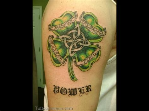 shamrock vine tattoo designs wonderful celtic leaf vine design tattooshunter