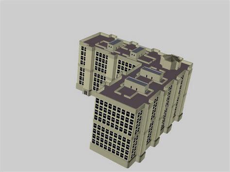 l shaped apartment l shaped apartment building 3d model 3d studio lightwave