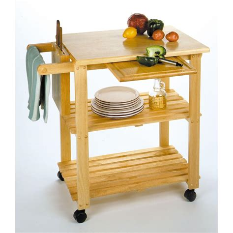 Kitchen Cart With Wine Rack by Winsome Beechwood Kitchen Cart With Wine Rack 151055