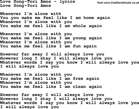 song by song lyrics for song amos