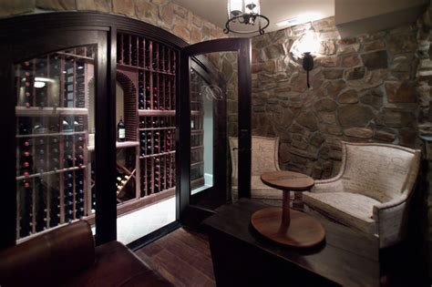 Home Wine Tasting Room Design Wine Closet Tasting Room In Maryland Traditional Wine