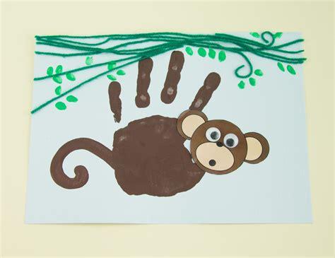 new year craft ideas monkey handprint monkey twinkl craft idea kuvis