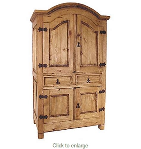 Mexican Pine Armoire by Mexican Pine Entertainment Armoire