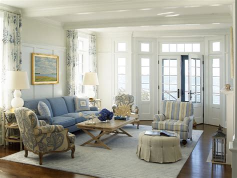 living room coastal living room with french style nautical house on the bay htons beach style