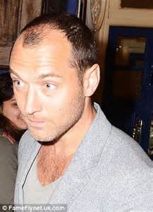 receding hairline plus gray hair jude law reveals dramatic receding hairline after taking