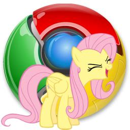 theme google chrome my little pony chrome icon fluttershy by spikeslashrarity on deviantart