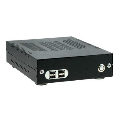 Car Computer Port by Aluminum Fanless Carpc Enclosure With 4 Usb Ports Mini Itx