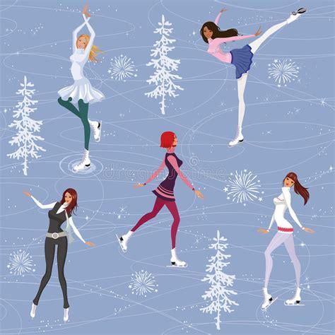 figure background figure skating background stock vector illustration of