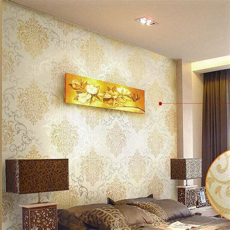 Metallic Bedroom Wallpaper by Luxury Gold Damask Wallpaper Modern Wall Paper Beige Non