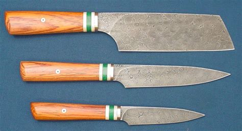 Damascus Kitchen Knives For Sale Damascus Kitchen Knife Set Knives For Sale Bladesmith S Forum Board