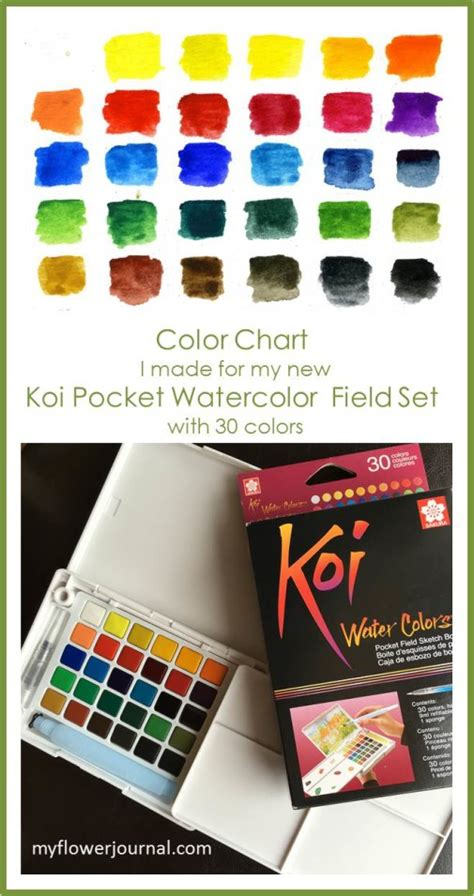 Koi Water Color Pocket Set 18 the new koi watercolor pocket set my flower journal