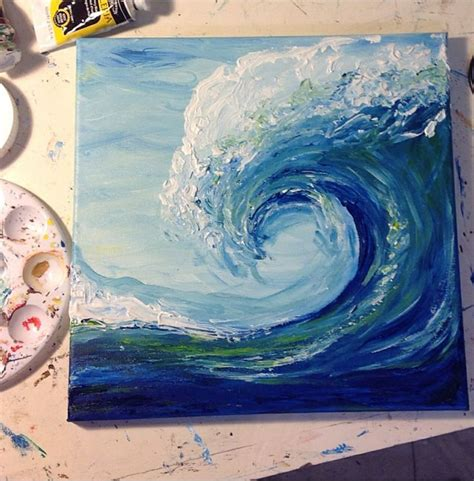 watercolor waves tutorial wave acrylic painting 1000 ideas about wave art on