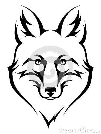 black and white mr fox a pipe design fox stock vector image 51291415