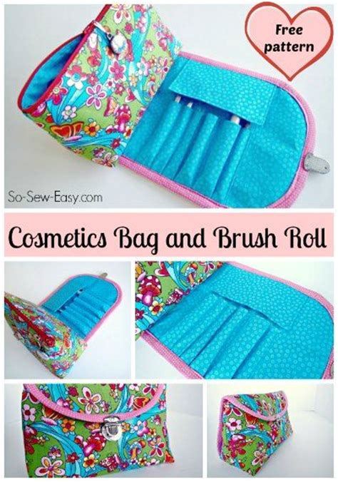pattern brush tutorial cosmetic bag video tutorials and brushes on pinterest