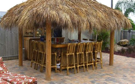 backyard tiki huts big kahuna our recent tiki hut and tiki bar builds