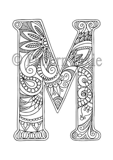 coloring pages for adults letters 25 best ideas about colouring pages on