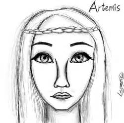 Greek Goddess Artemis Drawing Additionally Demeter Persephone  sketch template