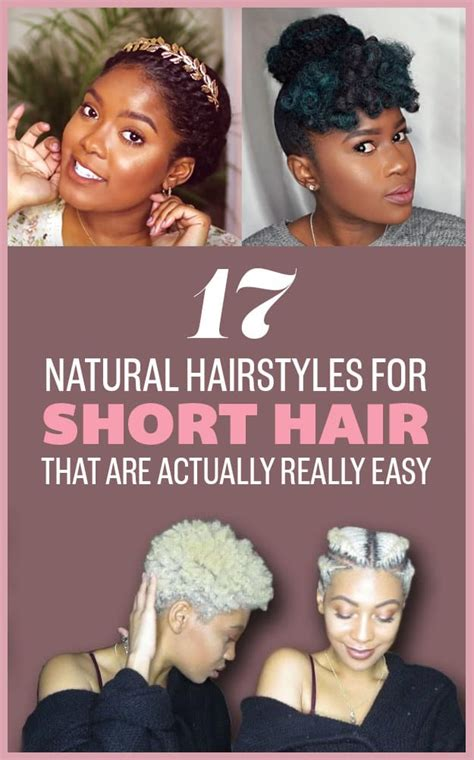 hairstyles for short hair buzzfeed easy to do hairstyles for short natural hair hair