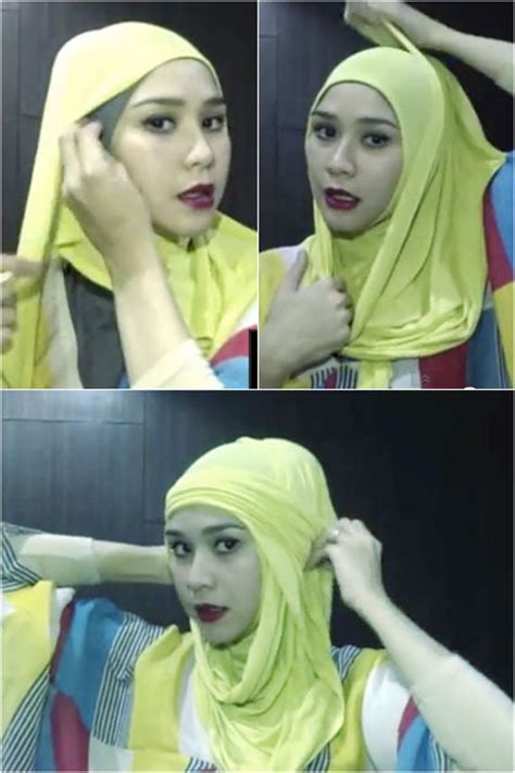 tutorial yang unik tutorial hijab zaskia adya mecca yang simpel dan unik
