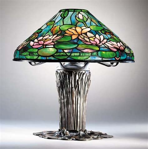 lily pond l shades a pond lily leaded glass and bronze table lamp tiffany