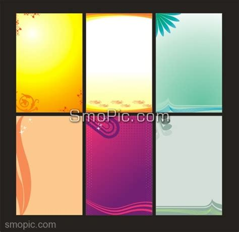 6 free vector poster x banner background design template