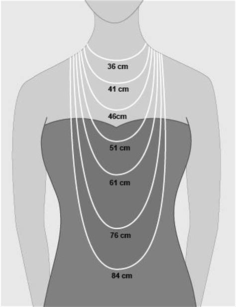 for size 36cm image gallery necklace lengths cm