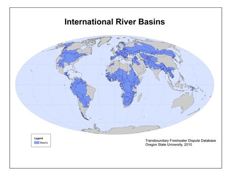 world river watershed map maps and images gallery water conflict management and