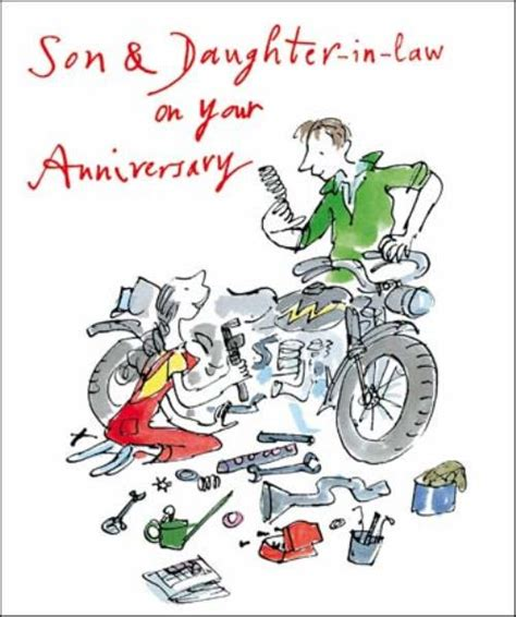 free printable anniversary cards for son and daughter in law quentin blake son daughter in law anniversary greeting
