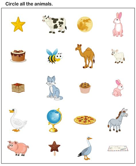 printable animal pictures for nursery free worksheets 187 worksheets for 3 year olds free math