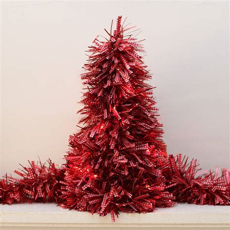 tinsel christmas tree with led lights by ella james