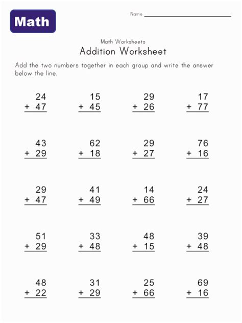 Free Printable Elementary Math Worksheets by Elementary Math Worksheets Abitlikethis