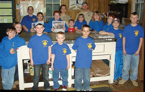 Boy Scout Office by Cub Scout Pack 163 Visits Beacon Office
