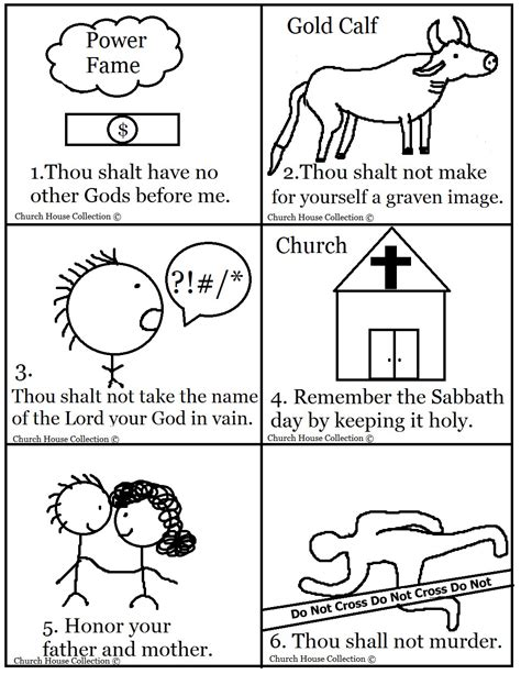 Church House Collection Blog 10 Commandments Bible Coloring Pages 10 Commandments