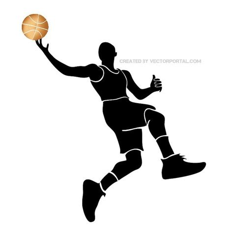 Basketball Clipart Vector Basketball Player Silhouette Free Vector Free Vectors