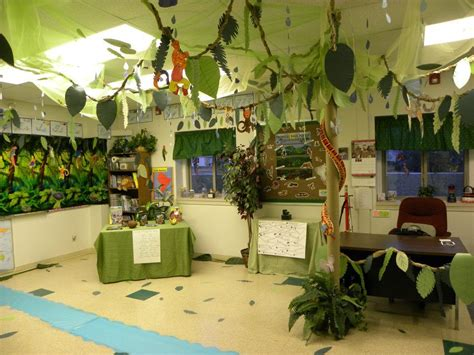 themes for college culturals another view of classroom decorated with brazil rainforest