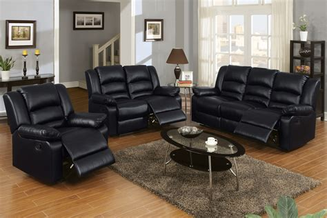 Black Recliner Sofa Set by Living Room Amusing 3 Reclining Living Room Set