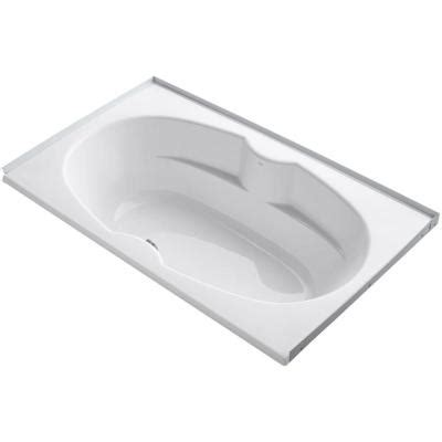 bathtub tile flange kohler proflex 6 ft center drain alcove with tile flange