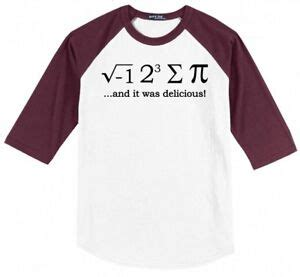 sum pi funny math teacher mens raglan jersey  shirt
