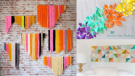 diy geometric wall art decorations   vivid modern